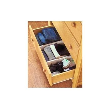 Snap Fit Dorm Drawer Dividers (Set of 2) Dorm Storage Solution
