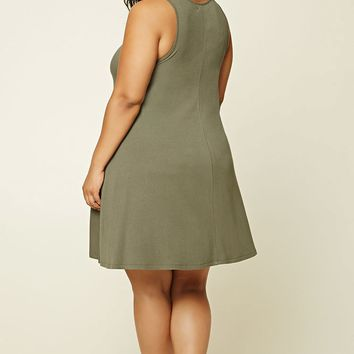 Plus Size Ribbed Swing Dress