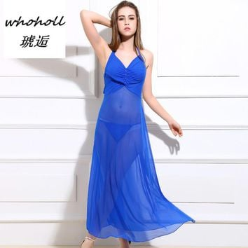 Whoholl Brand Women Sexy Nightgowns & Sleepshirts Sleepwear Female Summer Nightgown Sexy Sleepwear Nightgown Silk Sleepwear