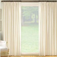 NEW Fireside Ivory Cotton Duck Pinch Pleated Insulated Drapery Pairs