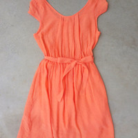 Daily Sun Dress in Tangerine [7221] - $34.00 : Feminine, Bohemian, & Vintage Inspired Clothing at Affordable Prices, deloom