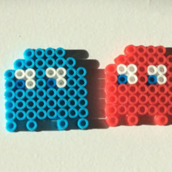 Pac-Man Perler Bead Art - Includes all 5 Pieces