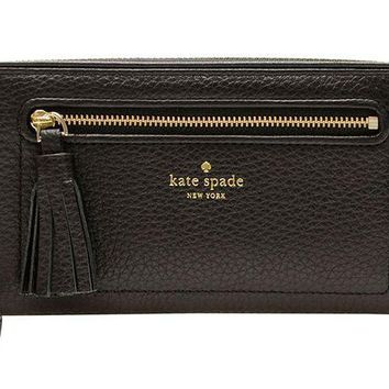 ESBON2D Kate Spade New York Chester Street Neda Pebbled Leather Zip Around Wallet