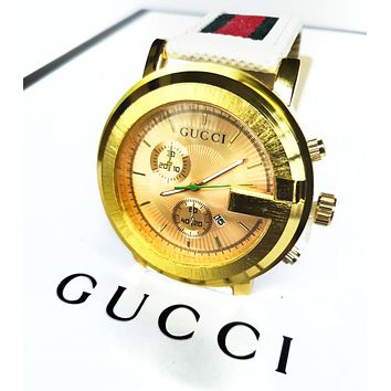 Gucci Popular Women Men Cool Quartz Watch Couple Movement Wrist Watch Jewelry I/A