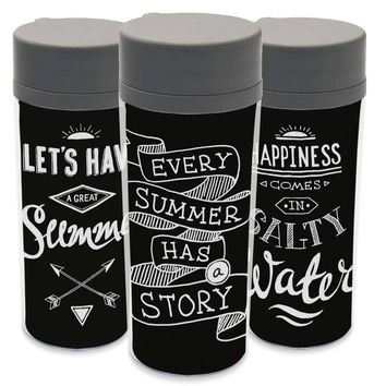 Plastic Insulated Minimalist Black White Motivational Typography Quotes Water Bottle