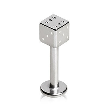 316L Surgical Steel Labret with Dice Top