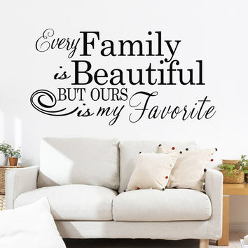 "Characters ""Family Beautiful"" Wall Sticker Living Room Removable wall stickers home decor decoracion PVC Black 57*110CM SM6"