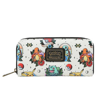 Loungefly Pokemon Starters Tattoo Zipper Wallet