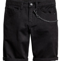 H&M Twill Shorts with Keychain $24.99