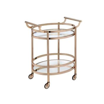 Acme Furniture Lakelyn Glass Serving Cart in Multicolor | Overstock.com Shopping - The Best Deals on Kitchen Carts