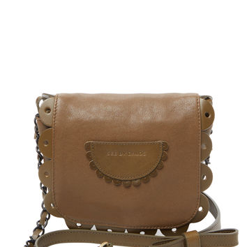 See by Chloe Women's Small Scalloped Leather Crossbody - Green