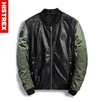 Trendy HISTREX Pilot Military Bomber Men Jacket Autumn Winter Leather Denim Camouflage Army Jackets For Men's Coat Streetwear #HJC5W AT_94_13
