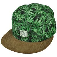 Cayler and Sons Weed Marijuana Leaf Suede Visor Clip Buckle Hat Cap Ganja Herbs
