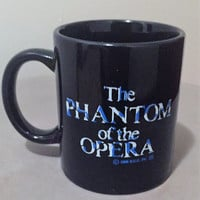Vintage Phantom of the Opera Mug 1986 / Broadway Musical / Musical Theater Mug / Vintage Music / Vintage Coffee Mug /Theater Gifts
