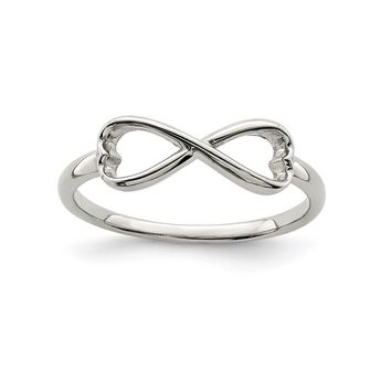 925 Sterling Silver Infinity Heart Ring