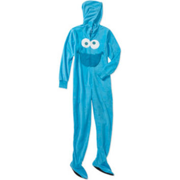 Walmart: Women's Cookie Monster 3D One-Piece Hooded Footie Pajamas