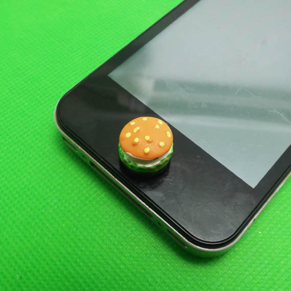 iphone button stickers mcd vegetables beef hamburger home button from polaris798 11667
