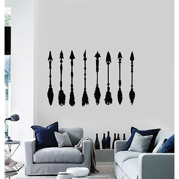 Vinyl Wall Decal Arrows Bird's Feathers Ethnic Art Home Decor Stickers Mural (g831)