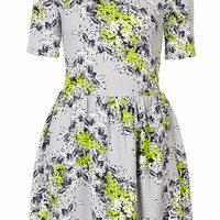 Floral Textured Flippy Dress