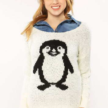 Penguin Graphic Knit Sweater