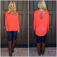 Lisbeth Net Back Top - ORANGE