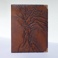 Leather Photo Album, Tree of Life, Family Album, Leather Art, Leather Gift, Anniversary, Gift for Dad, Boyfriend, Travellers, Birthday Gift
