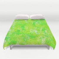 Painted Green Duvet Cover by KCavender Designs