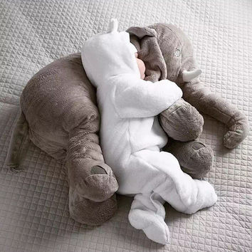 Creative Plush Toys Baby Adult Elephant Comfort Pillow A Cushion Undertakes Gift for