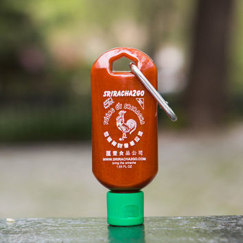 Sriracha2Go Miniature Sriracha Keychain Bottle 1.7oz (Empty)