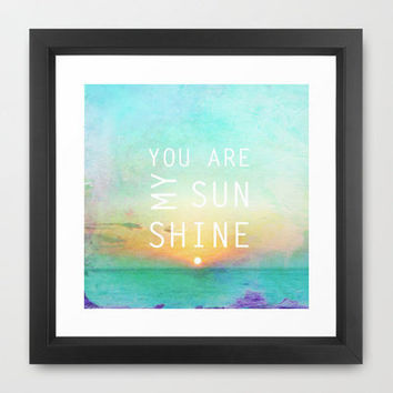 You Are My Sunshine Framed Art Print by Ally Coxon