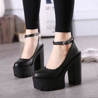 Goth Doll Platform Pumps