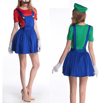 princess super mario costume women for adults bros girl cosplay mario child shirt super mario halloween costumes luigi clothing