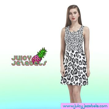 SNOW KITTY Skater Dress Rave Outfit Women Burning Man Clothing Rave Wear Festival Clothing Rave Clothing Sexy Dress Trance Clothing