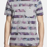 Men's Ted Baker London 'Aldale' Slim Fit Stripe & Floral T-Shirt,