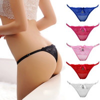 Women Ladies Sexy Thongs G-string V-string Panties Underwear Knickers Lingerie Hot Sale Lingerie 6 Colors