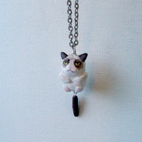 Grumpy Cat Hanging Tail Necklace