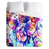 Holly Sharpe Sunrise Flowers Duvet Cover