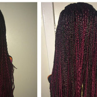 box braid lace front wig