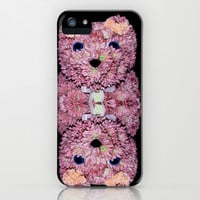BEARY FLORAL iPhone & iPod Case by catspaws