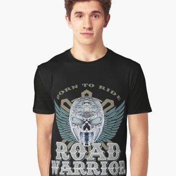 """ROAD WARRIOR Skull"" Unisex T-Shirt by Naumovski 