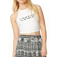 LA Hearts Be My Star Halter Top - Womens Tee - White