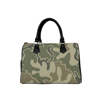 Personalized Women Bag Retro Camouflage Boston Top Handbag
