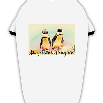 Magellanic Penguin Text Stylish Cotton Dog Shirt