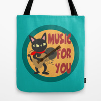 Music for you Tote Bag by BATKEI