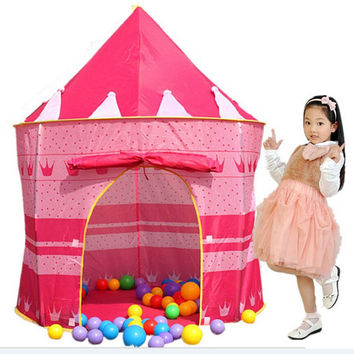 105*135*80cm Children Beach Tent Baby Toy Play Game House Kids Princess Prince Castle Indoor Outdoor Toys Tents