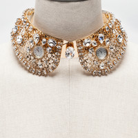 Jewelry and bijoux for women | Dolce&Gabbana - JEWEL COLLAR WITH APPLICATIONS