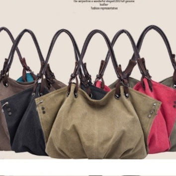 women men Fashion Design canvas Tote 6 colors = 1697486148