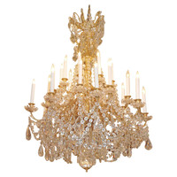 Antique Ormulu Baccarat Chandelier