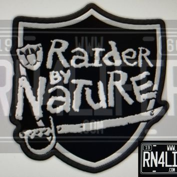 "Two (2) 4""x4"" Raider by Nature Iron on/Sew On Patch"