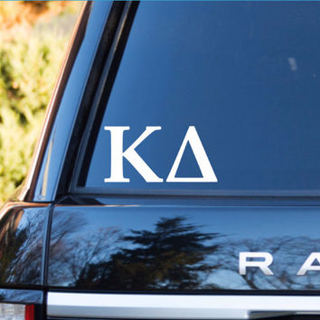 Kappa Delta Car Decal | Kappa Delta Car Sticker | Kappa Delta Sorority Decal | Greek Decals | Greek Stickers | Car | 156
